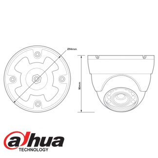 DAHUA HDCVI 1080P IR MINI DOME 2