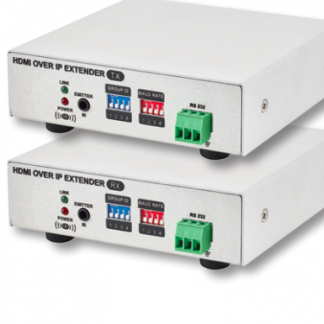 HDMI OVER IP EXTENDER WITH RS232 TRANSMITTER and RECEIVER