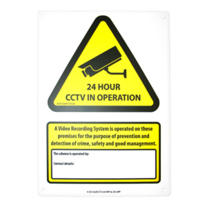 A4 RIGID POLYPROPYLENE WARNING SIGN WS-A4PP From Northwest Security