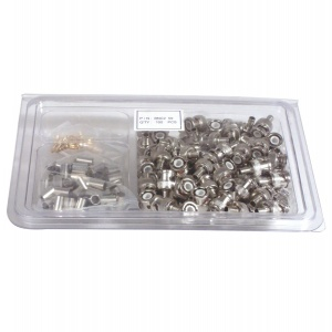 BOX OF 100X BNC CRIMP ON CONNECTORS 15-TV129-100
