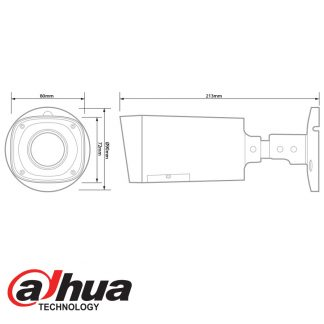DAHUA IP 3MP IR BULLET CAMERA 2.8-12MM LENS HFW2300R-VF