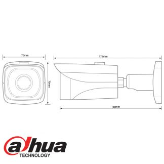 DAHUA IP 3MP IR MINI BULLET CAMERA - 6.0MM LENS IPC-HFW4300E-600