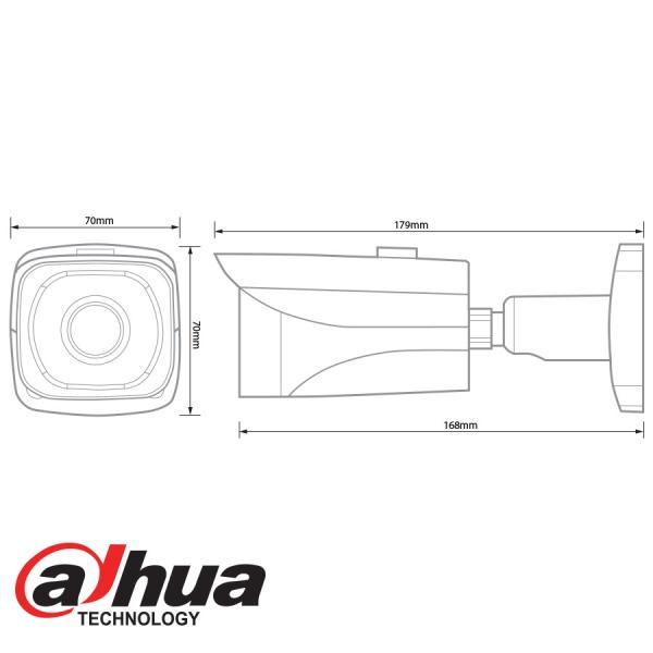 DAHUA IP 3MP IR MINI BULLET CAMERA - 6.0MM LENS IPC-HFW4300E-600