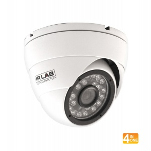 IR LAB 4 IN 1 1080P MINI IR DOME 3.6MM LENS Part No- CIR-BA44GRC-W FROM NORTHWEST SECURITY