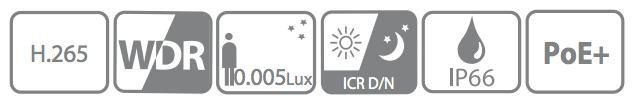 DAHUA IP 2.0MP IR 25X ZOOM STARLIGHT PTZ DOME CAMERA SD59225U-HNI SPEC