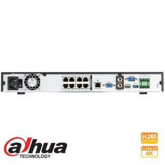 DAHUA 8CH 4KS2 IP POE NVR Part No: NVR5208-8P-4KS2
