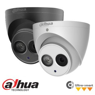 DAHUA IP 4.0MP EPOE SINGLE IR DOME CAMERA - 2.8MM LENS