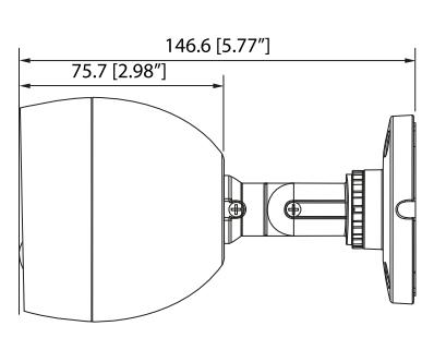 Motion Eye Camera - DHQ40-28RW-PIR Size