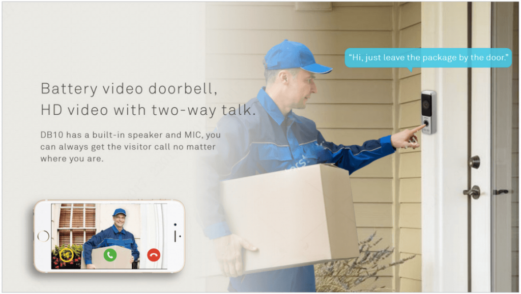Dahua Battery Video Door Bell